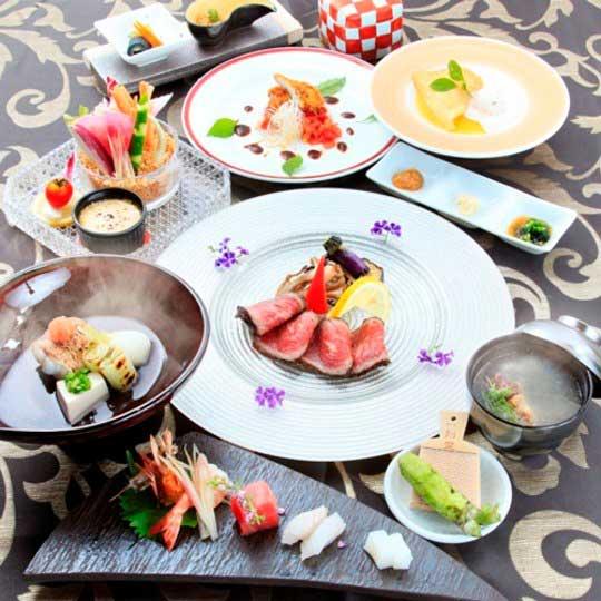 和モダンオーベルジュ 熱海TENSUI 創作和食会席例