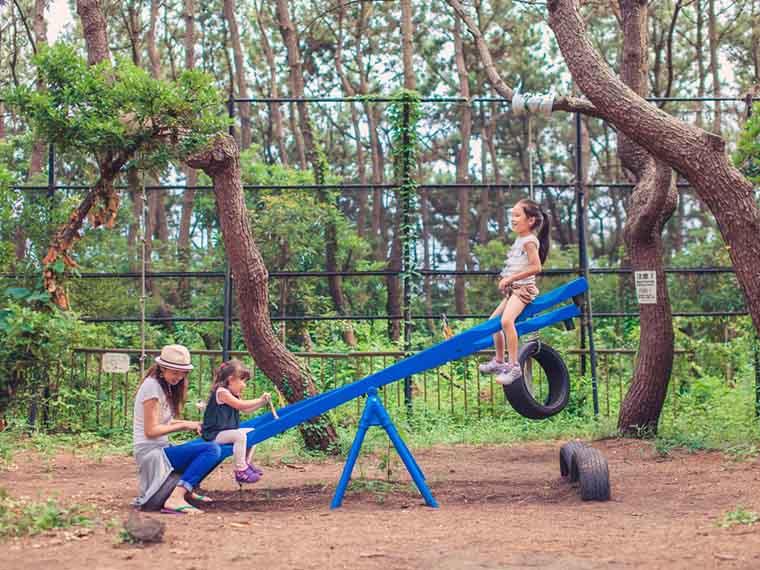 子供が遊べる遊具が充実