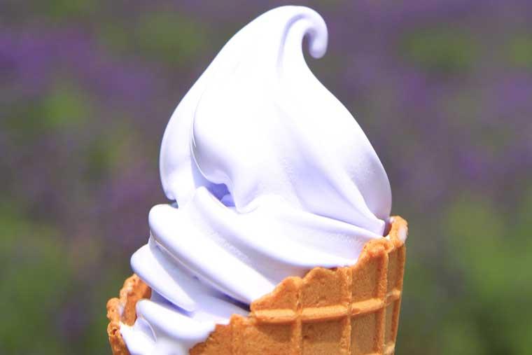 ラベンダーソフトクリーム