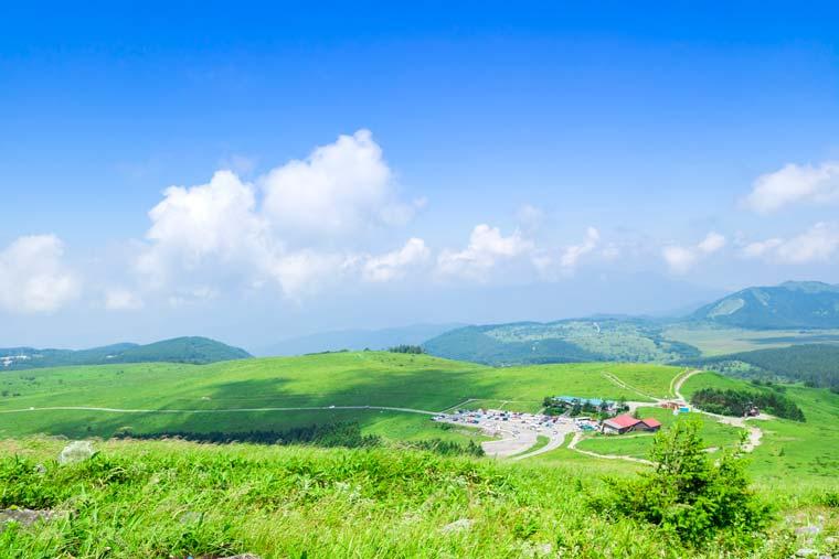 車山高原から見た風景