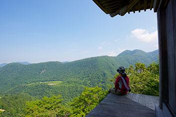 三徳山 地蔵堂からの眺望
