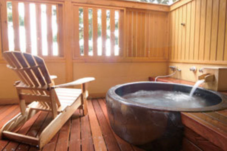 洲本温泉 淡路島観光ホテル 客室露天風呂