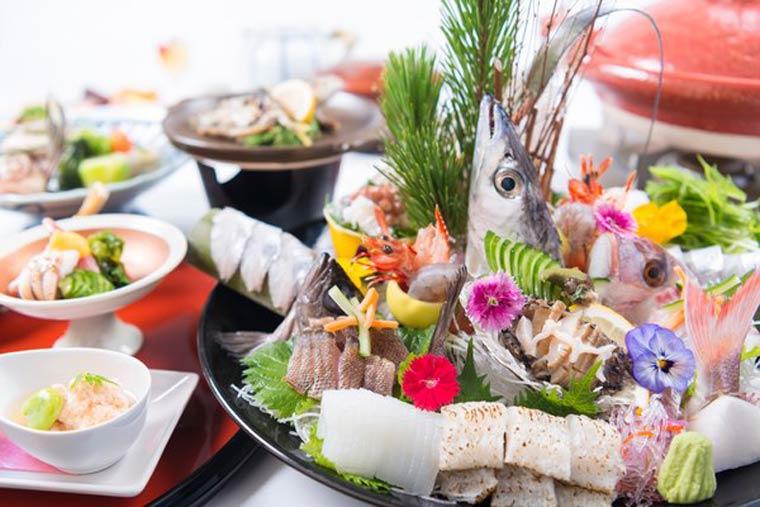 洲本温泉 淡路島観光ホテル 料理例