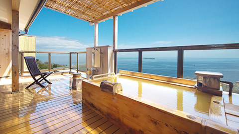 伊豆のお部屋食&露天風呂付き客室プランが人気の温泉宿