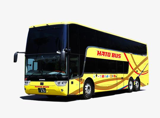 はとバス新型2階建ての「アストロメガ」