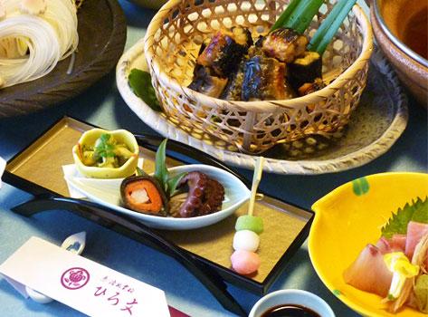 料理旅館 ひろ文:川床料理
