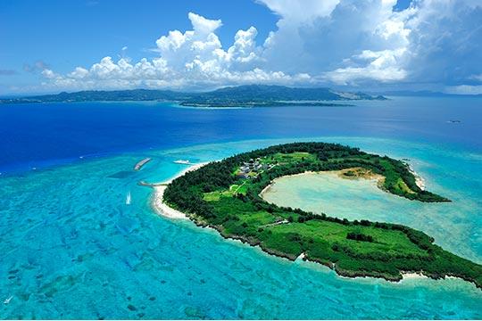 水納島 全景
