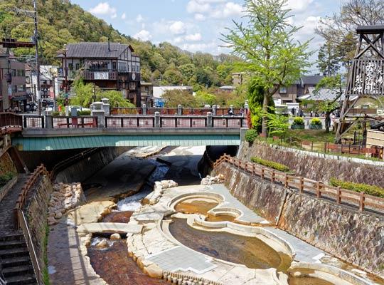 有馬温泉 太閤橋と親水公園