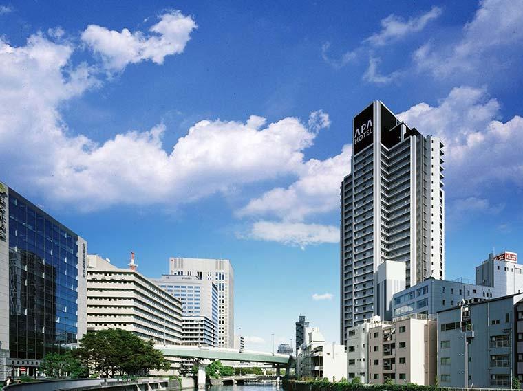 アパホテル<大阪肥後橋駅前> 外観