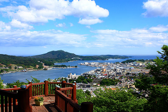 安波山からの眺め