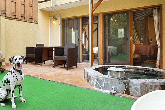 伊豆高原温泉 ペットと泊まれる全室専用露天風呂付 別邸 石の家