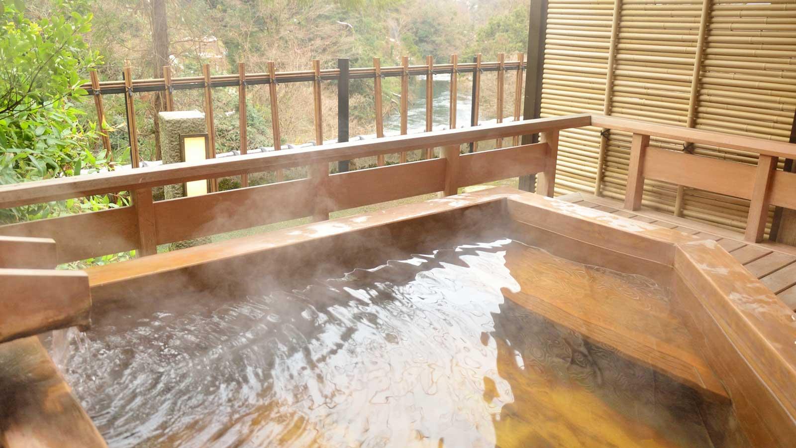露天風呂付き人気温泉宿