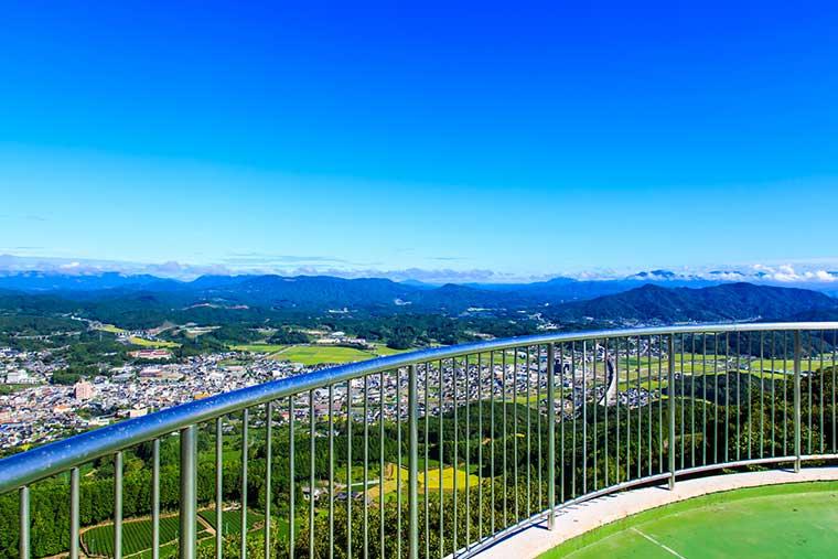 嬉野温泉 立岩展望台からの眺め