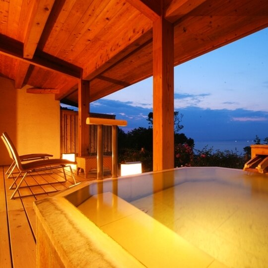 白浜温泉 浜千鳥の湯 海舟 離れ・源泉かけ流し客室露天風呂