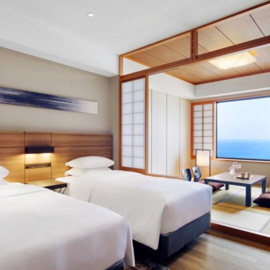 南紀白浜マリオットホテル 和洋室ツインルーム(海側)