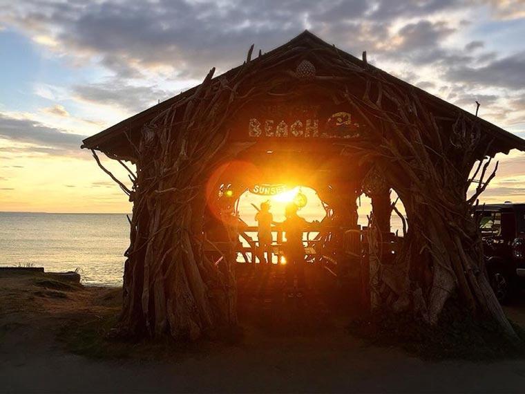 Beach Cafe SUNSET(サンセット)の夕日
