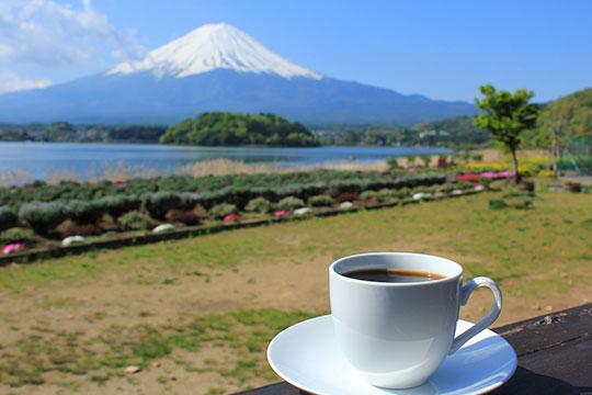 河口湖 湖畔のカフェ