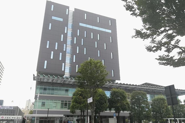 甲府市役所 本庁舎 展望ロビー