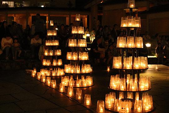 湯畑キャンドル「夢の灯り」
