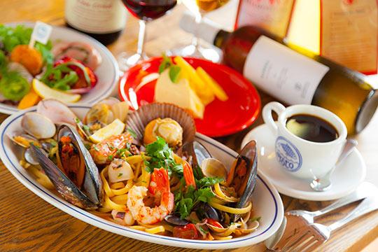 MATSUSHIMA ITALIAN  Toto 山盛り魚介のペスカトーレ