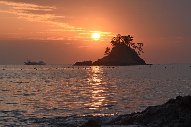 松島の夕陽