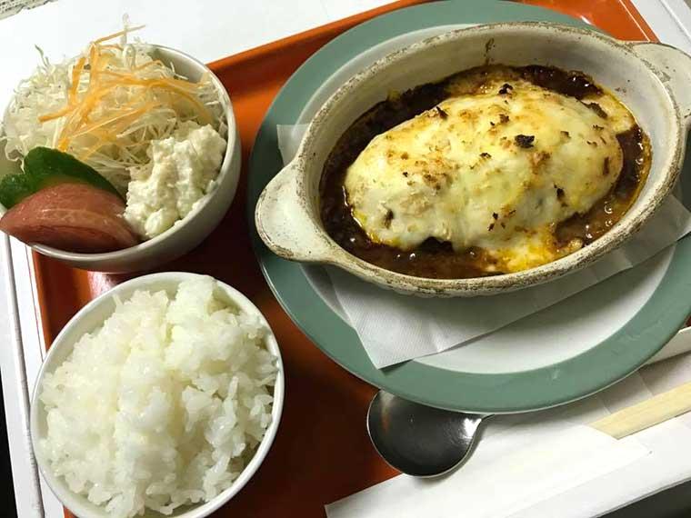 cafe FAB ハンバーググラタン(ライス・サラダ付き1,150円・税込)