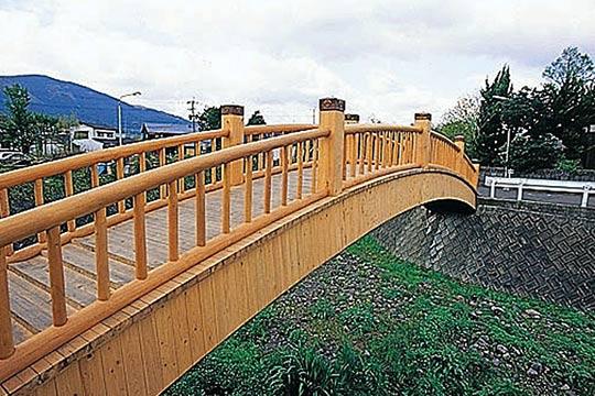 蛍観橋と湯の坪川流域
