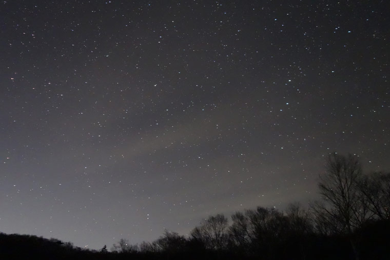 赤城山からの星空