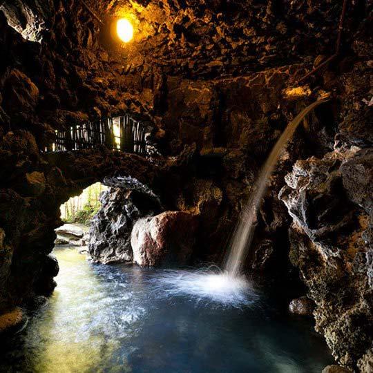湯ヶ島温泉 落合楼 村上 洞窟露天風呂 天狗の湯