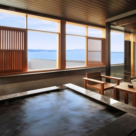 千葉県 鏡ヶ浦温泉 rokuza 客室露天風呂 ラグジュアリースイート