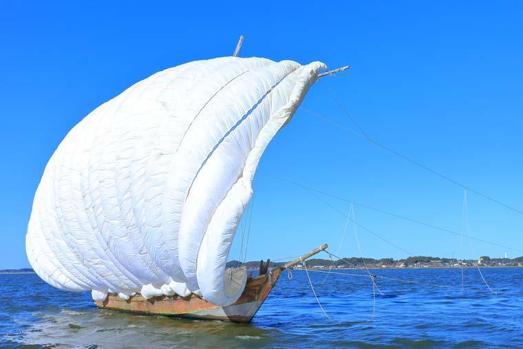 霞ヶ浦 観光帆引き船