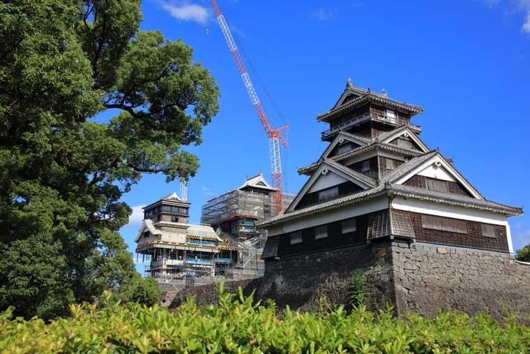熊本城と宇土櫓