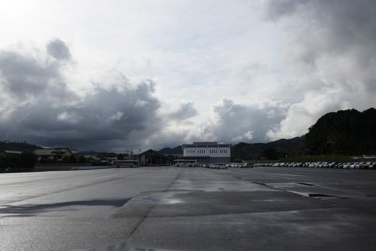 足立美術館の駐車場
