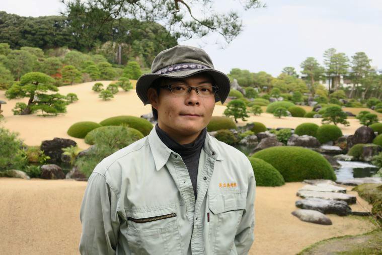 足立美術館の曽田和孝さん