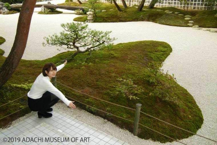 足立美術館のハート型の苔