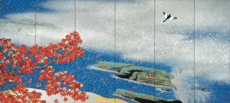 横山大観『紅葉』