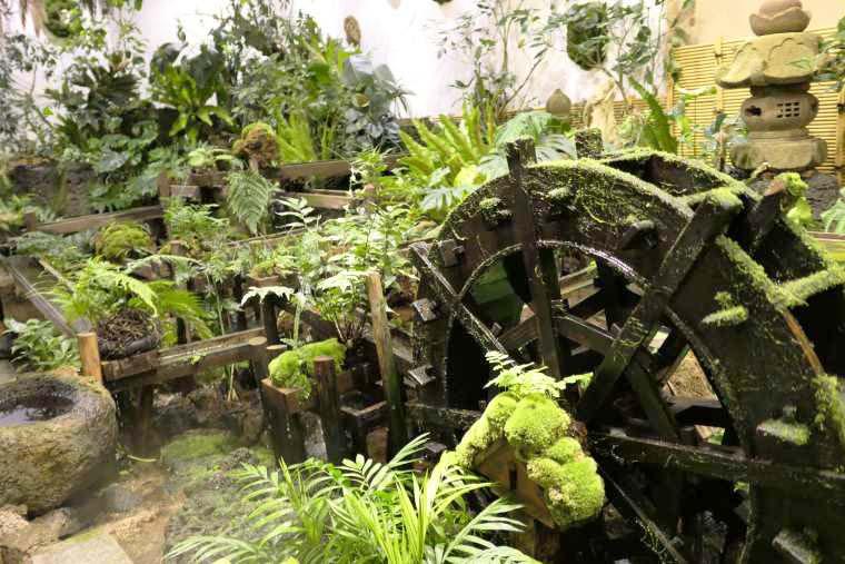 石原和幸さんによってデザインされた苔の庭園