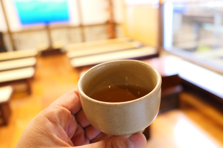 高麗人参茶の試飲