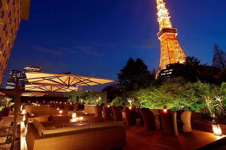 東京プリンスホテル「カフェ&バー タワービューテラス」