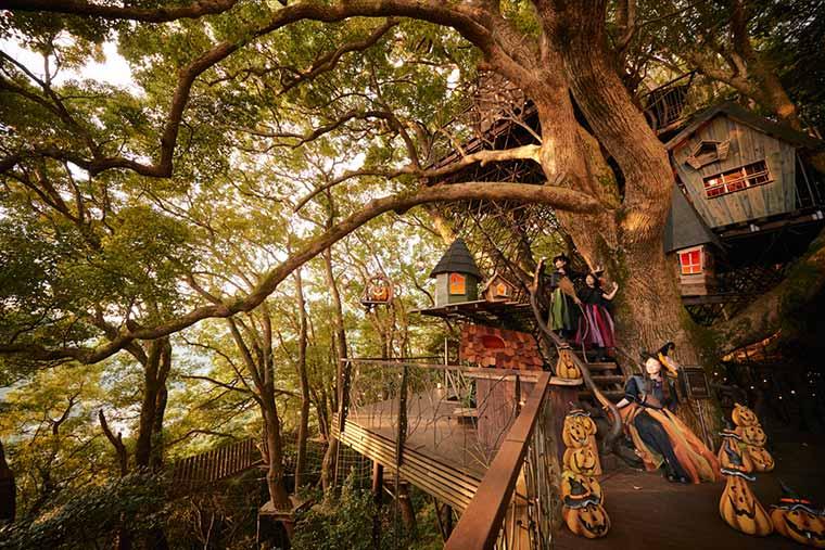 星野リゾート リゾナーレ熱海「森の空中基地 くすくす~ハロウィン体験~」