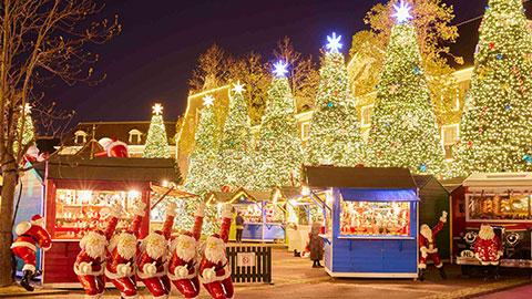 ハウステンボスのイルミネーション「光の王国」2020と「光の街のクリスマス」がスタート
