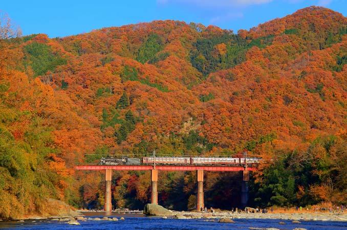 親鼻河原からの眺め荒川橋梁