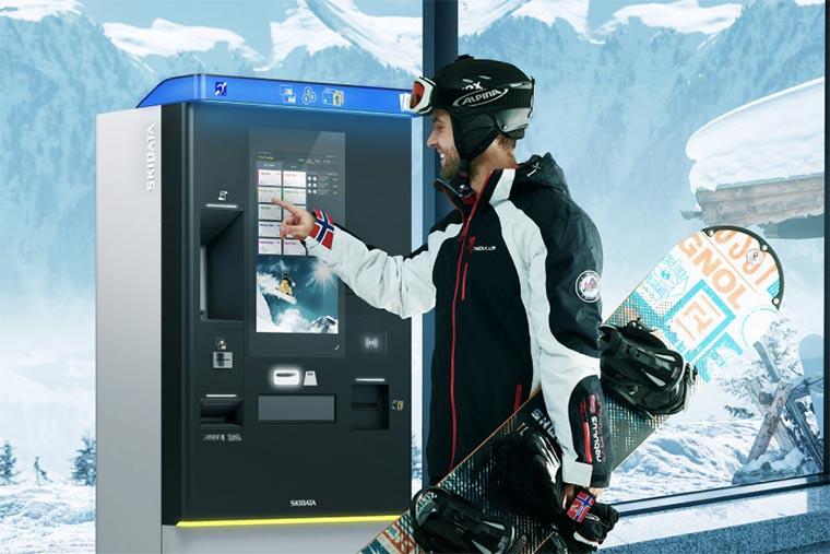 スキー場内3カ所のチケット売り場に自動発券機を導入