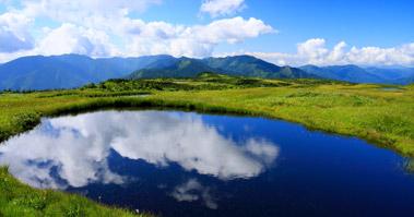 苗場山山頂湿原の池塘