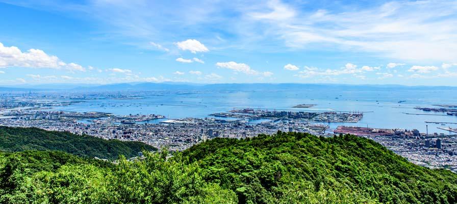 六甲山天覧台からの眺め