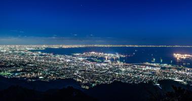 摩耶山掬星台からの眺望