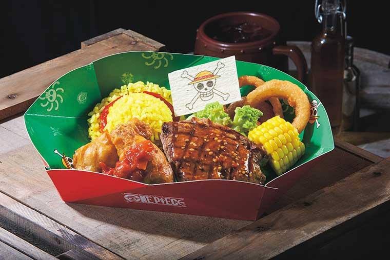 USJ 「ワンピース海賊食堂」 ルフィの肉盛りプレート