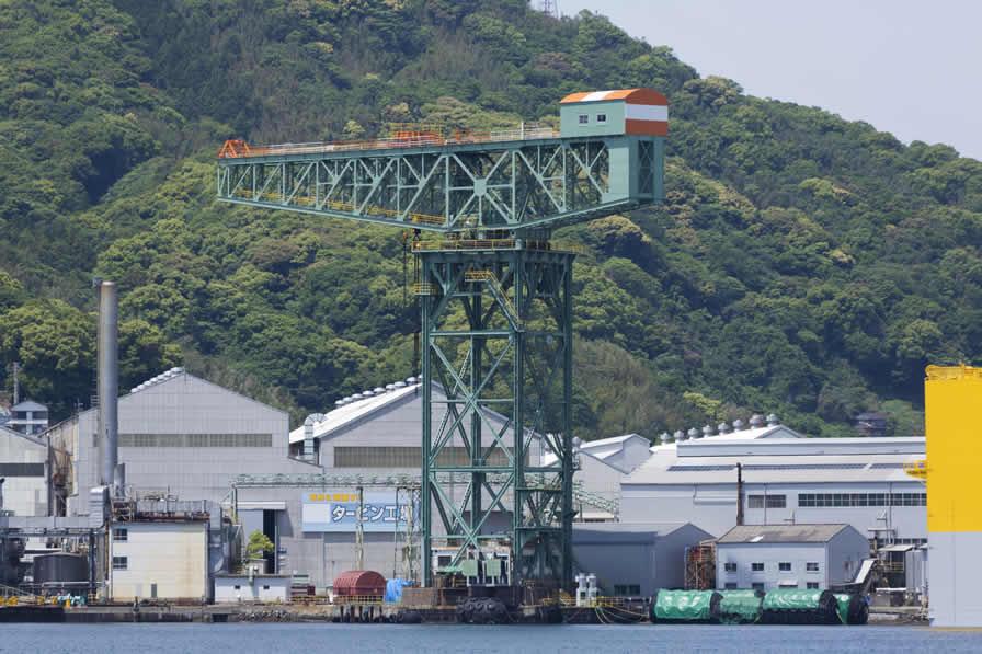 長崎造船所のクレーン