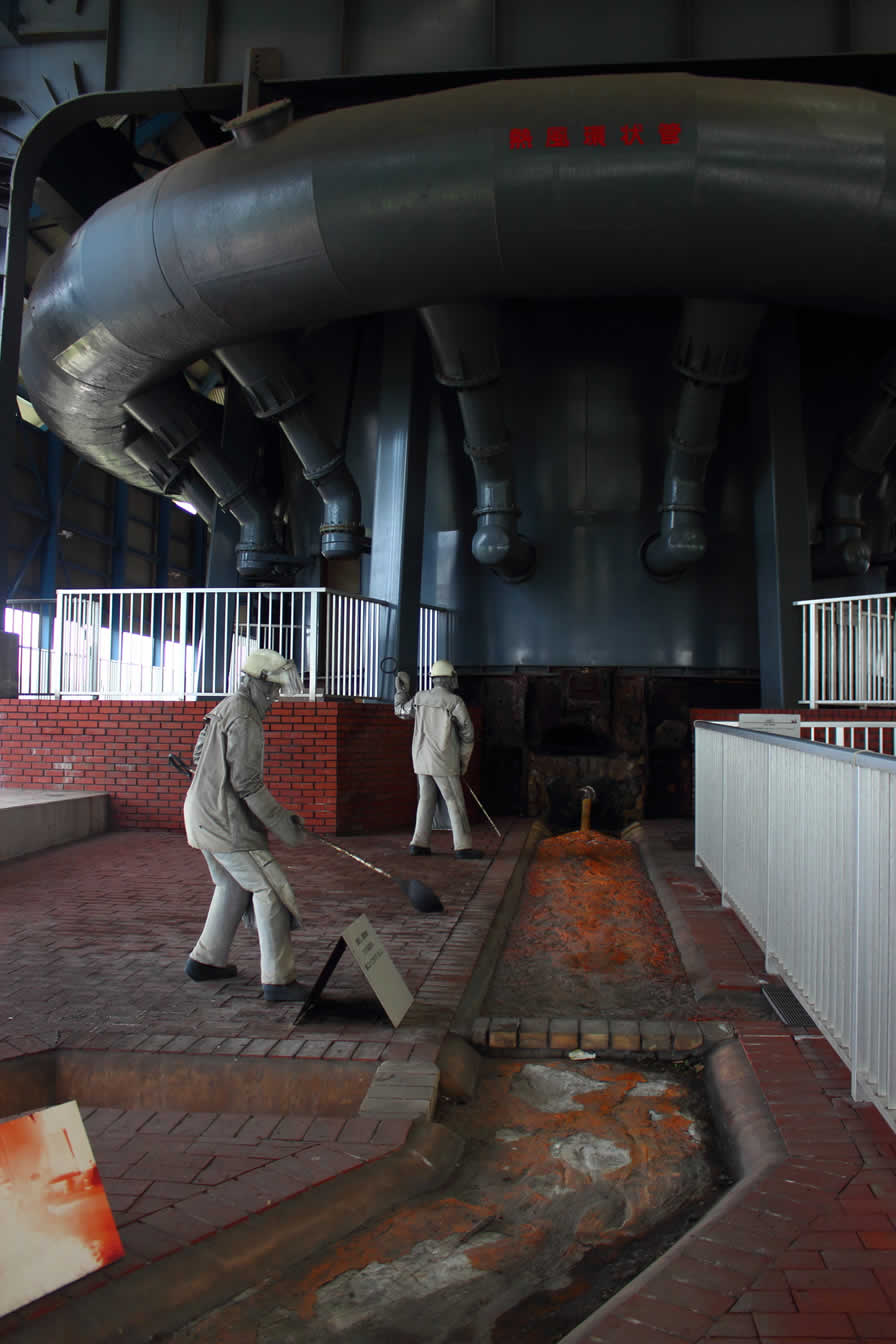 八幡製鉄所第一高炉の作業