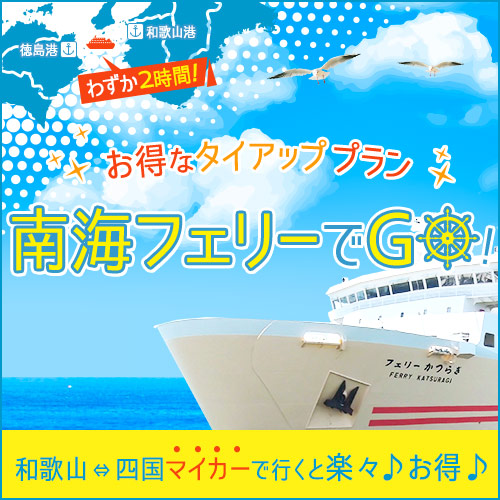 南海フェリー(和歌山⇔徳島)タイアップ(お車での利用限定)☆お財布に優しい素泊まりプラン